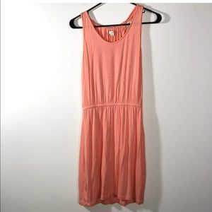 Gap Size XS Rouched T-Back Neon Peach Summer Dress